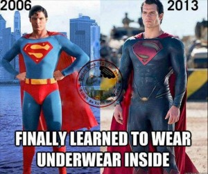 finally Superman's underwear