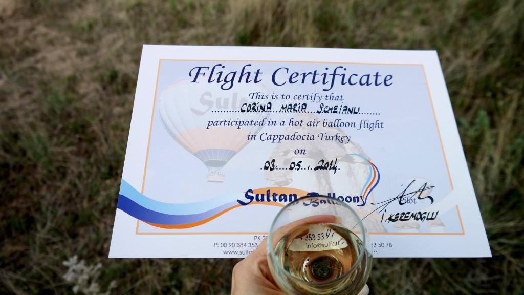 flight certificate sultan balloons cappadocia