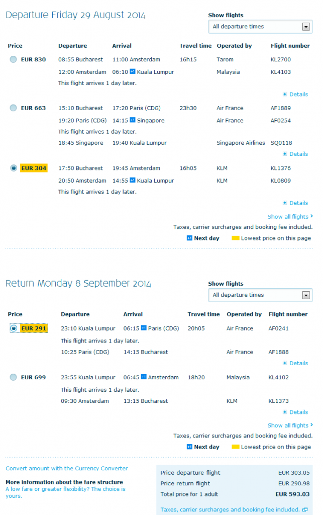 KLM - Kuala Lumpur - oferta