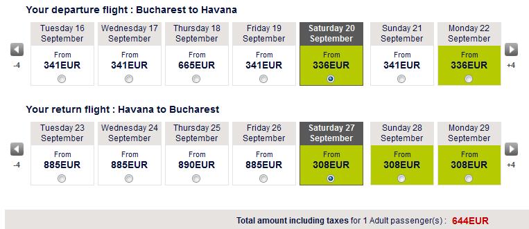 oferta bilete avion cuba