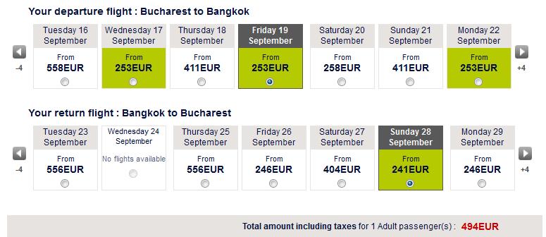 oferta bilete thailanda