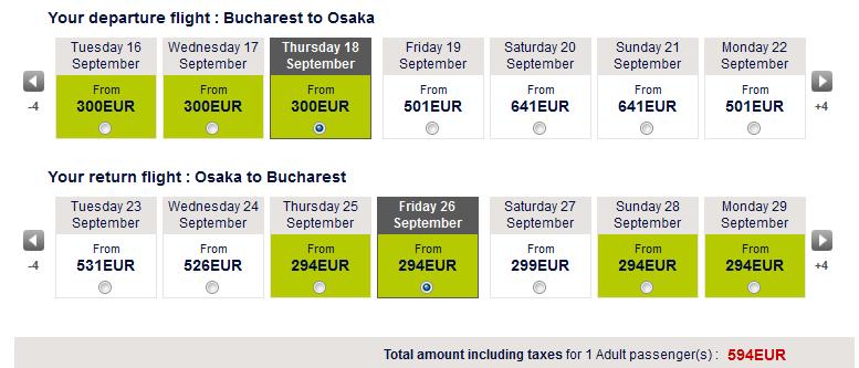 osaka (japonia) - oferta bilete de avion