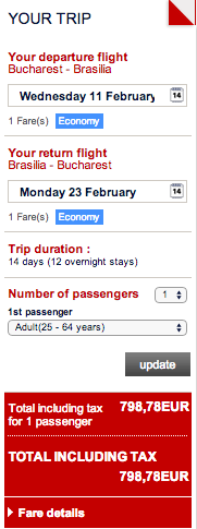Brasilia - oferta bilete Air France