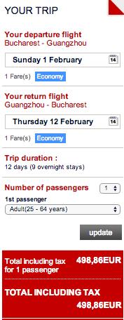 Guangzhou - oferta bilete air france