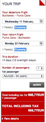 Punta Cana - oferta bilete Air France 3