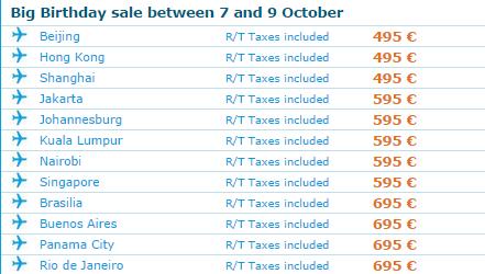 Aniversare KLM - oferta bilete avion