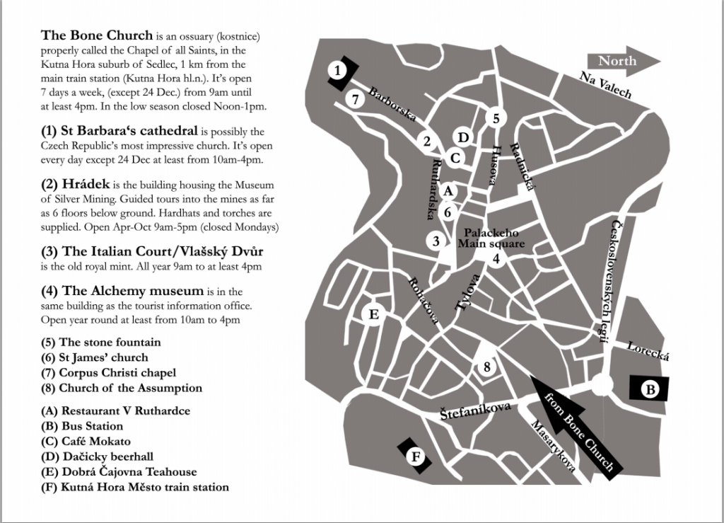 Tourist map Kutna Hora