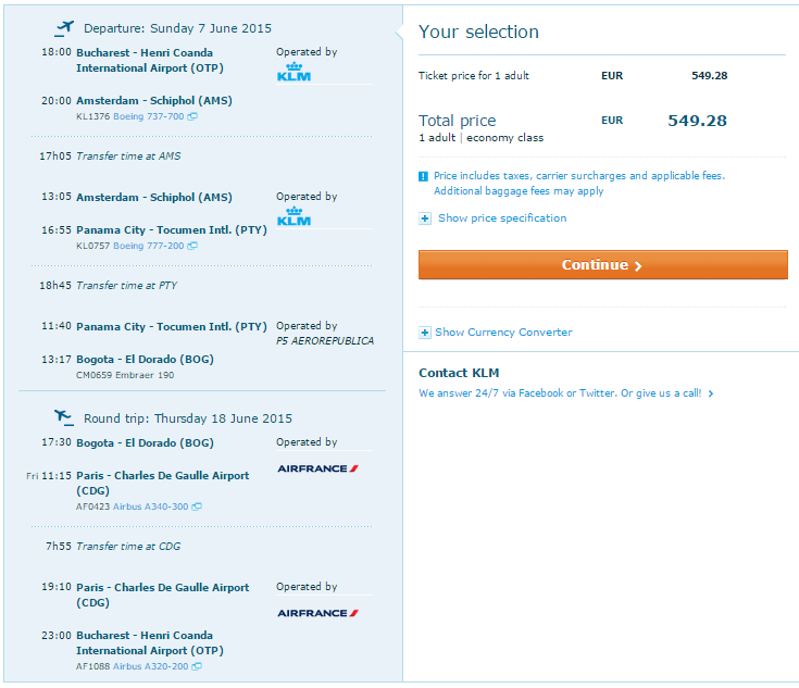 oferta bilete avion klm
