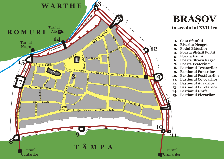harta brasovului (fortificatii)