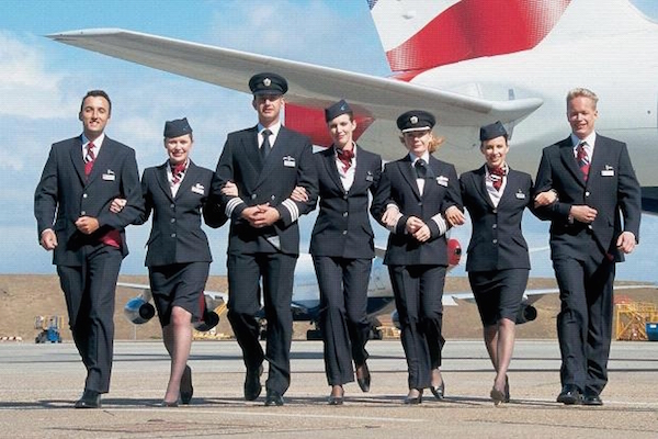 british airways crew